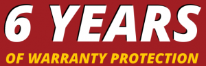 6 Years of Warranty Protection Banner