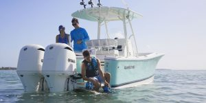 Regulator Center Console fishing boat being used to catch tuna