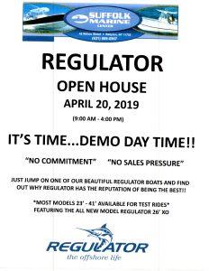 Regulator Open House, April 20, 2019 Flyer
