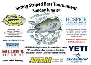 2018 Spring Striped Bass Tournament Flyer
