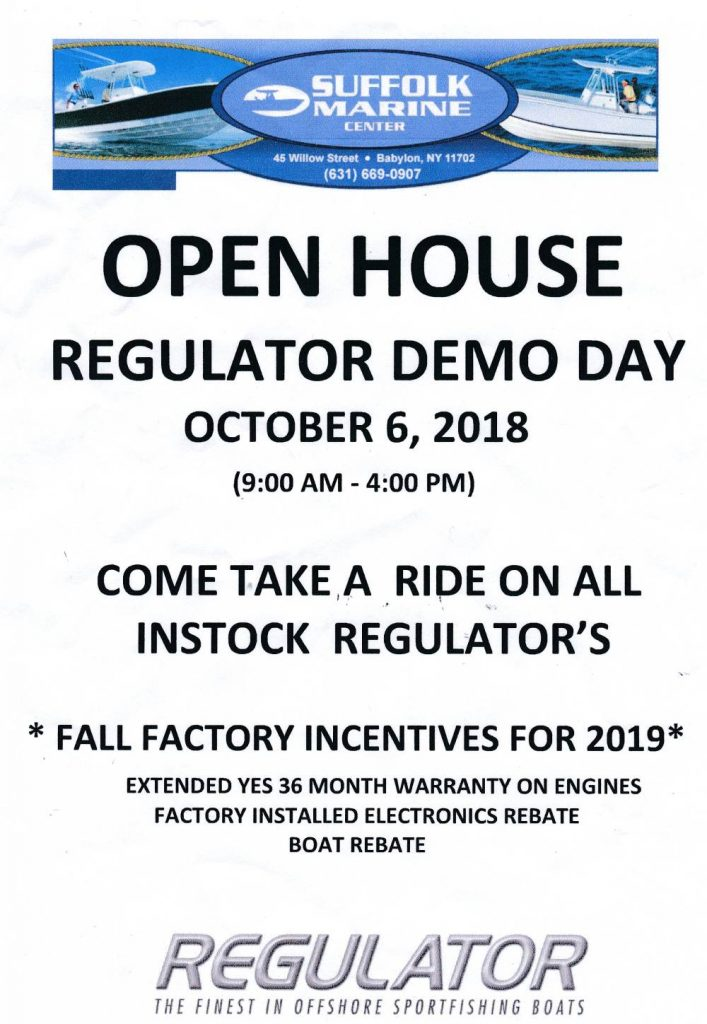 Open House Regulator Demo Day Flyer